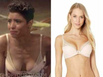elena dawson, brytni sarpy, the young and the restless, beige lace bra