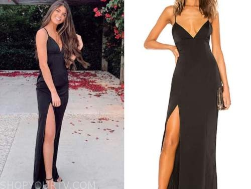 madison prewett, black slit gown