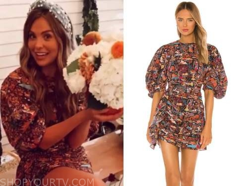 hannah brown, the bachelorette, floral ruched dress