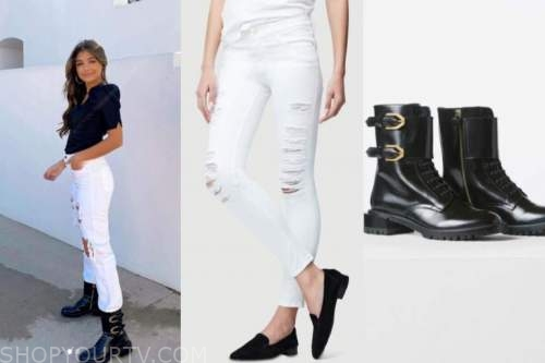 hannah ann sluss, the bachelor, white ripped jeans, black combat boots