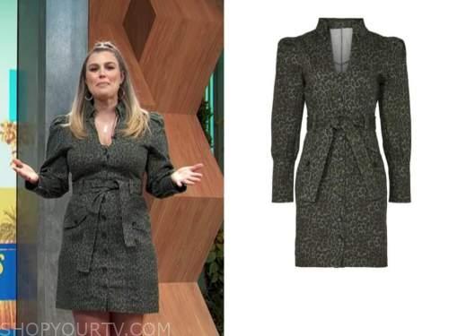 carissa culiner, E! news, daily pop, green leopard dress