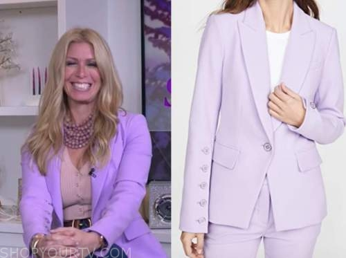 jill martin, the today show, purple blazer