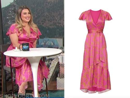 carissa culiner, E! news, pink floral wrap midi dress, daily pop