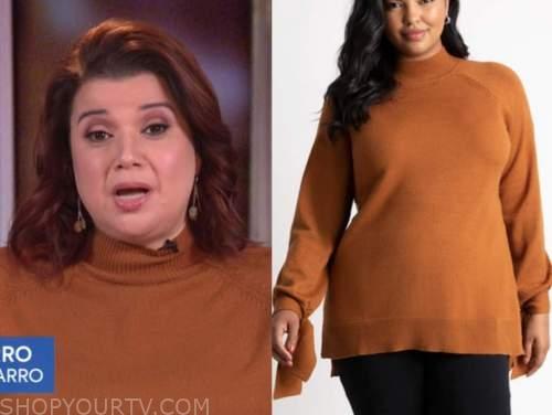 ana navarro, brown turtleneck sweater, the view