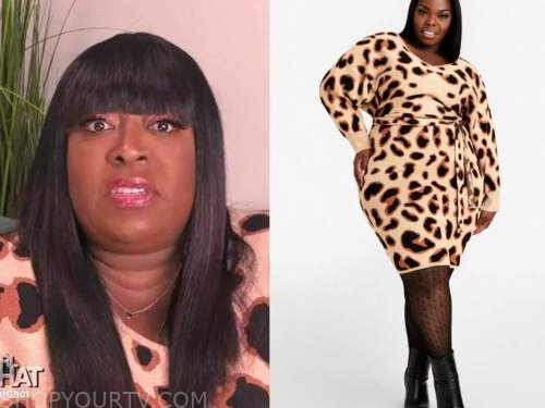 loni love, leopard sweater dress, the real