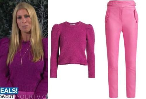 jill martin, the today show, pink puff sleeve sweater, pink leather pants