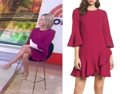 dylan dreyer, the today show, pink bell sleeve dress