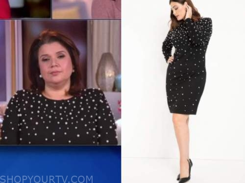 ana navarro, the view, black pearl embellished dress