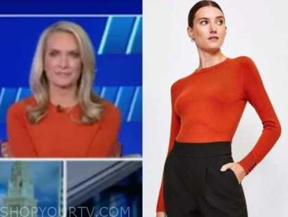 dana perino, the five, orange sweater