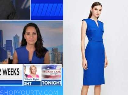emily compagno, the five, blue dress