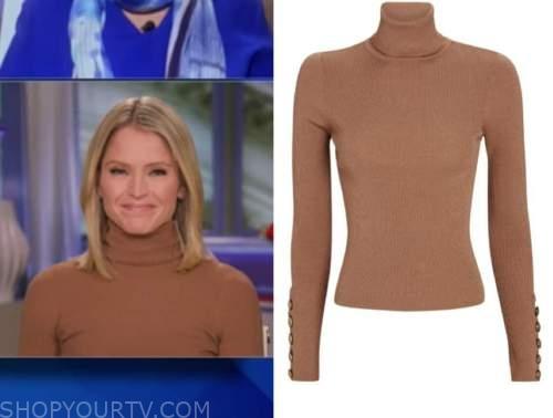 sara haines, beige turtleneck sweater, the view