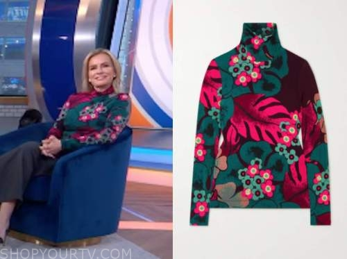 dr. jennifer ashton, good morning america, gma3, floral turtleneck top