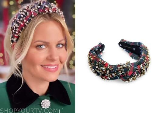 candace cameron bure, plaid embellished headband