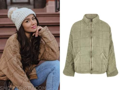 caila quinn, the bachelor, quilted jacket