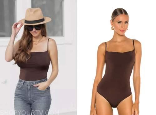 ashlee frazier, the bachelor, brown bodysuit top