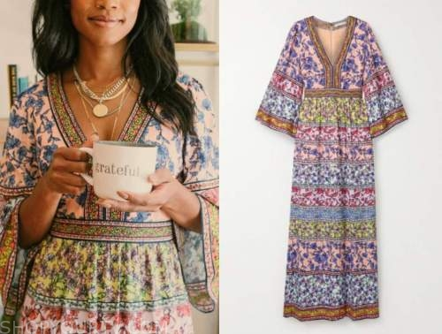rachel lindsay, the bachelorette, floral maxi dress