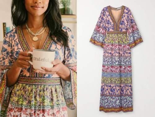 rachel lindsay, the bachelorette, floral maxi dress