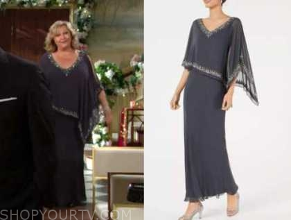 traci abbott, the young and the restless, sequin trim gown, beth maitland