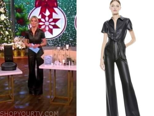 sara haines, the view, black leather jumpsuit
