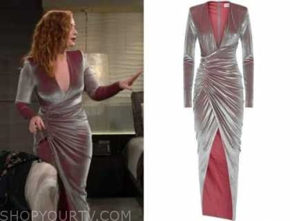mariah copeland, camryn grimes, velvet drape dress gown, the young and the restless