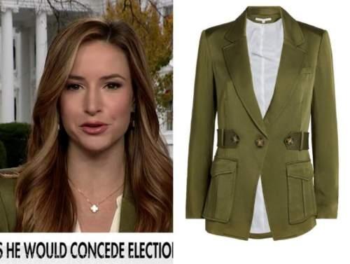 kristin fisher, america's newsroom, olive green blazer