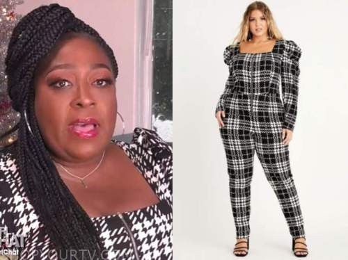 loni love, the real, houndstooth jumpsuit