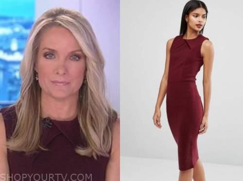 dana perino, the daily briefing, burgundy dress