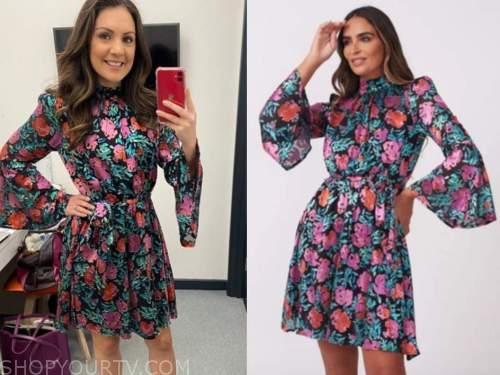 laura tobin, floral bell sleeve dress, good morning britain