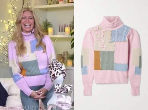 jill martin, pink patchwork turtleneck sweater, the today show