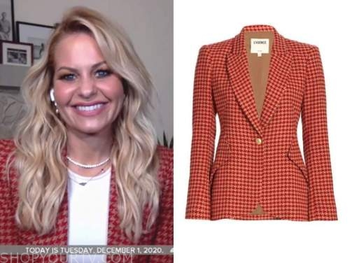 candace cameron bure, the today show, red houndstooth jacket