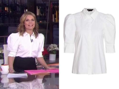 savannah guthrie, the today show, white puff sleeve shirt