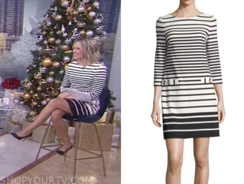 dylan dreyer, the today show, black and white striped dress