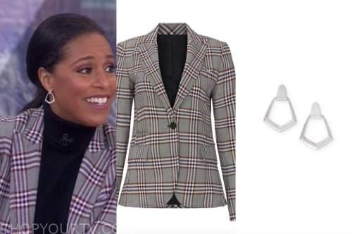sheinelle jones, the today show, grey plaid blazer