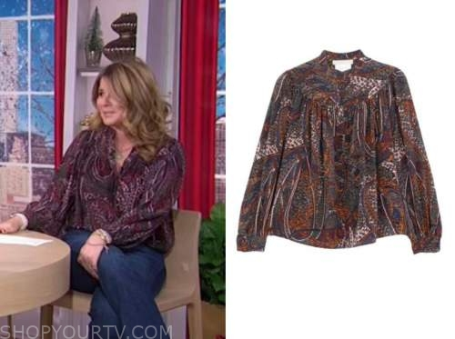 jenna bush hager, the today show, paisley print blouse