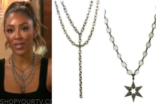 tayshia adams, the bachelorette, layered necklace, star necklace