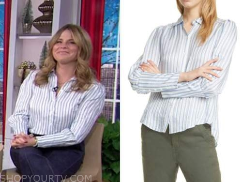 jenna bush hager, the today show, blue and white striped shirt