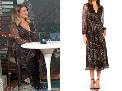 carissa culiner, leopard metallic wrap dress, e! news, daily pop