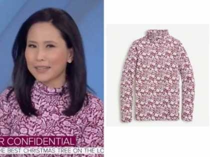 vicky nguyen, the today show, pink floral turtleneck top
