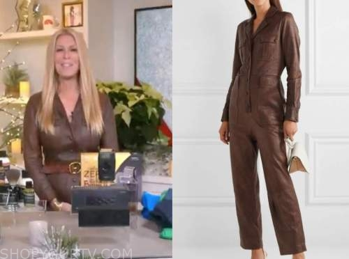 jill martin, the today show, brown leather jumpsuit