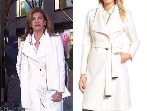 hoda kotb, the today show, white coat