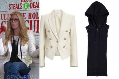 jill martin, the today show, ivory double breasted blazer, black dickey, tortoise eyeglasses