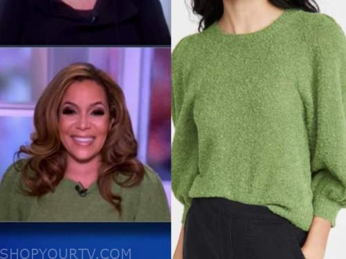sunny hostin, the view, green sweater