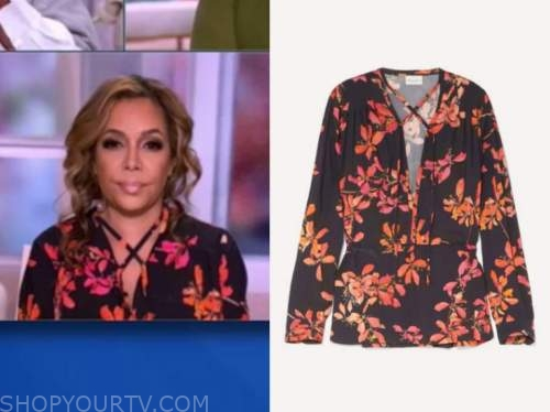 sunny hostin, floral blouse, the view