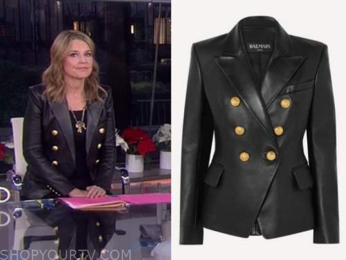 savannah guthrie, black leather blazer, the today show