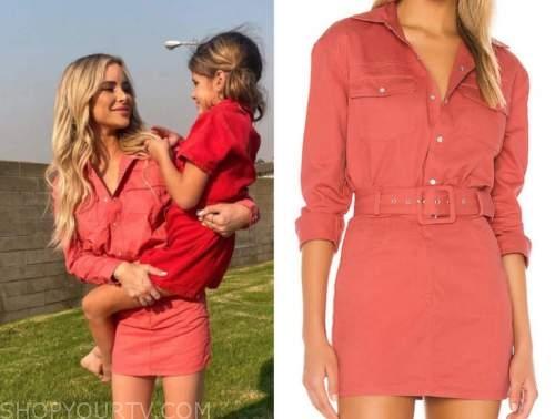 amanda stanton, pink shirt dress, top and skirt, the bachelor