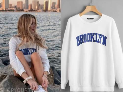 hannah godwin, the bachelor, white brooklyn sweatshirt