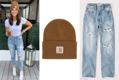 tia booth, beanie, ripped jeans, the bachelor