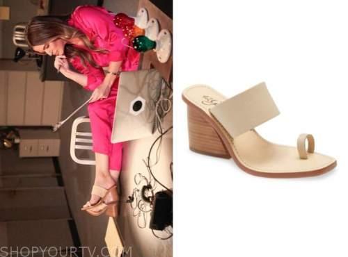jojo fletcher, the bachelorette, beige platform sandals