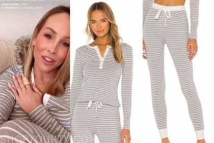 clare crawley, the bachelorette, striped knit top and pants