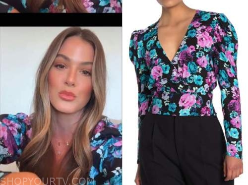 jojo fletcher, floral wrap top, the bachelorette